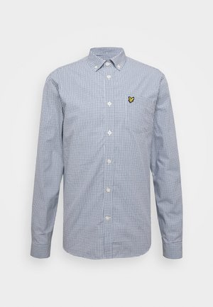 MICRO CHECK - Shirt - navy