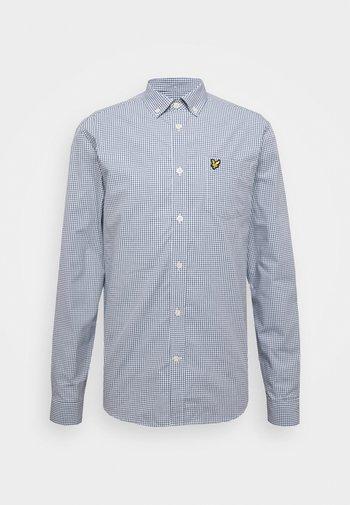 MICRO CHECK - Shirt - navy
