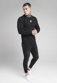 SIKSILK - ESSENTIAL HIGH NECK - Sweatshirt - black - 1