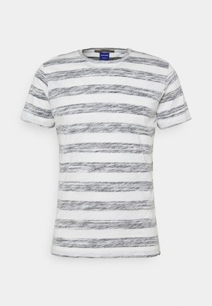 JORSUNNY STRIPE TEE CREW NECK - Print T-shirt - navy blazer
