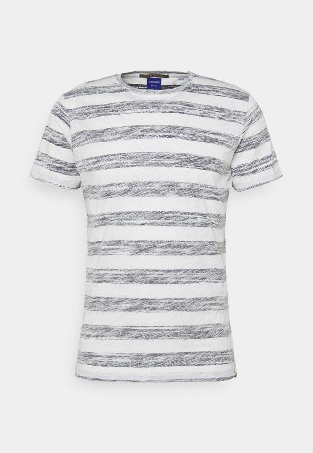JORSUNNY STRIPE TEE CREW NECK - T-shirt print - navy blazer