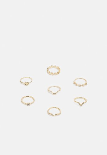 7 PACK - Ring - gold-coloured