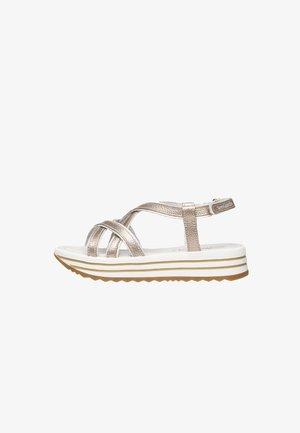 Platform sandals - nut
