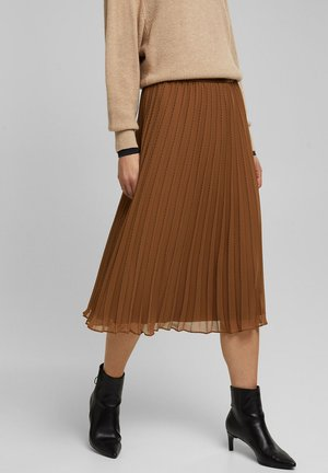 Pleated skirt - toffee