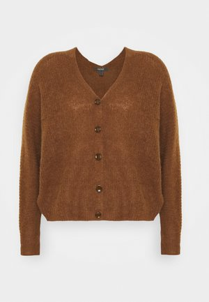 V NECK CARDIGAN - Kardigan - toffee