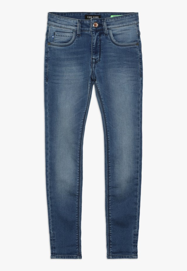 BURGO - Slim fit jeans - blue denim
