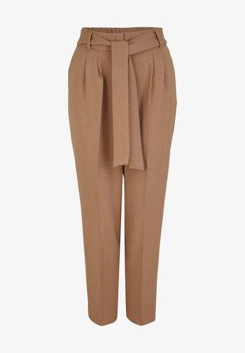 Trousers - camel melange