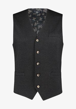 Waistcoat - dark-anthracite plain