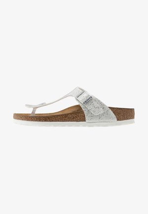 GIZEH - T-bar sandals - cosmic sparkle white