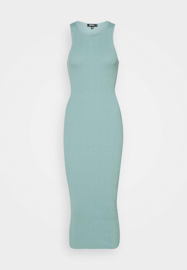 TEXTURED MIDI DRESS - Etui-jurk - mint