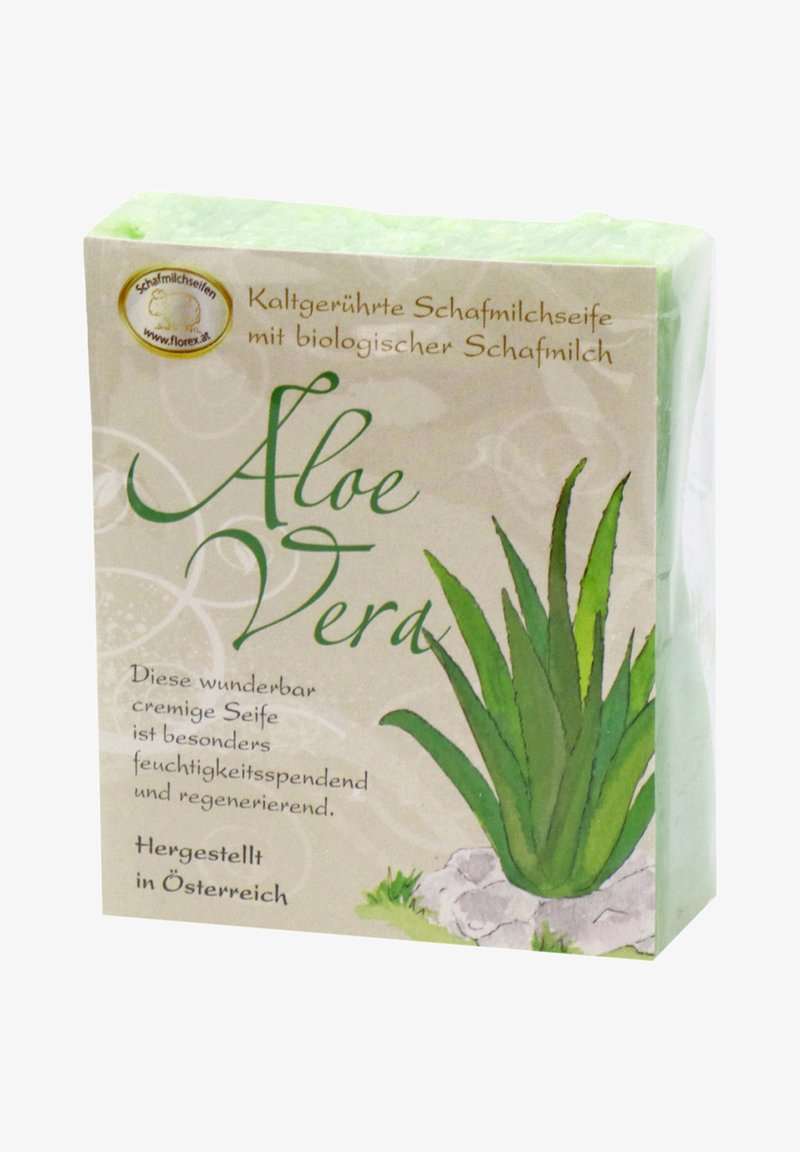 Florex - KALTGERÜHRTE SCHAFMILCHSEIFE ALOE VERA  150 G - Soap bar - grün