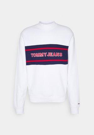 TJM TOMMY BAND MOCK NECK UNISEX - Zip-up sweatshirt - white/ multi coloured