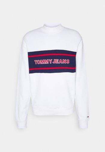 TJM TOMMY BAND MOCK NECK UNISEX - Mikina na zip - white/ multi coloured