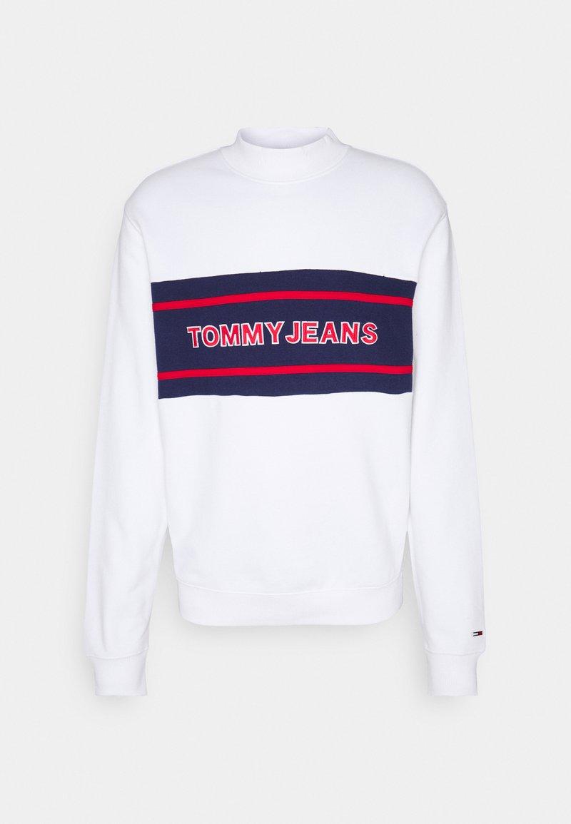 Tommy Jeans - TJM TOMMY BAND MOCK NECK UNISEX - Sudadera con cremallera - white/ multi coloured
