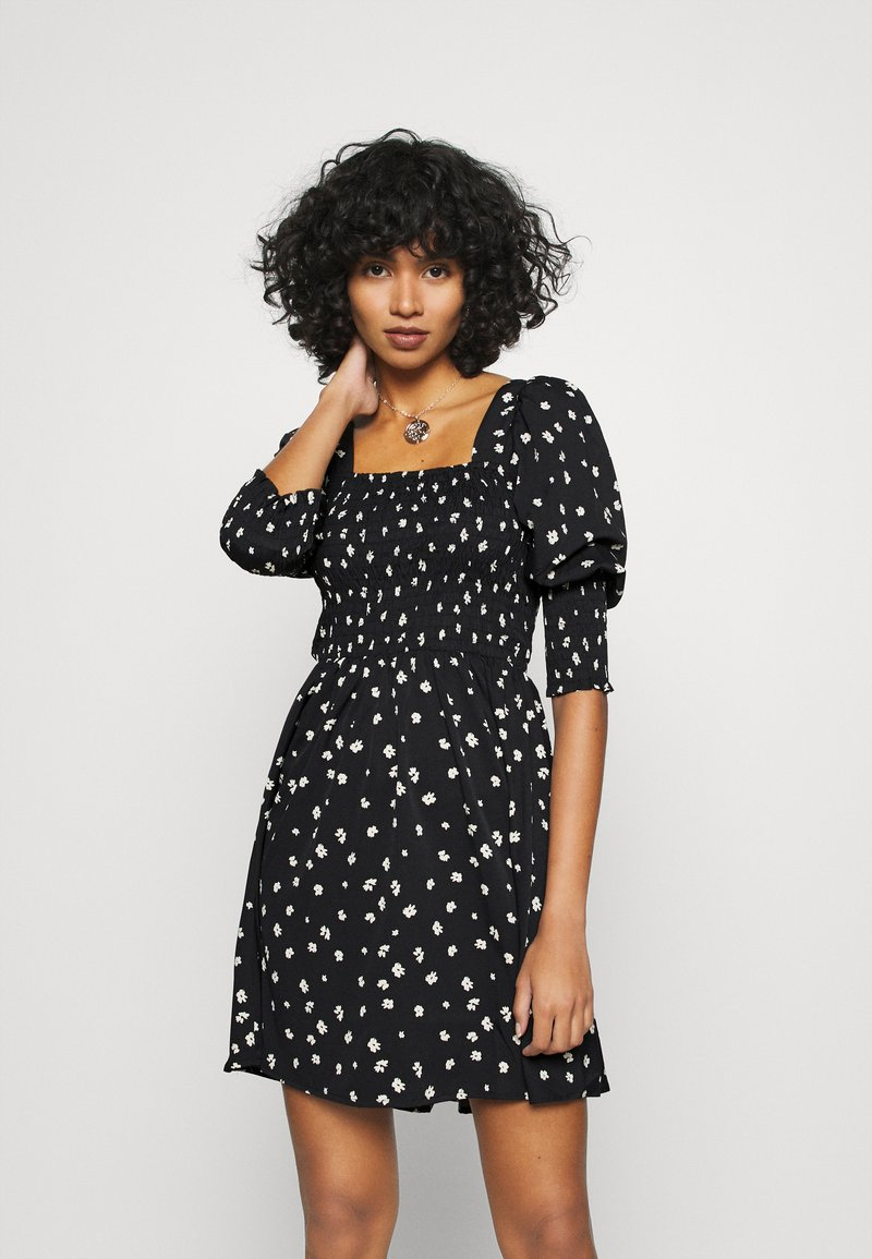 Vero Moda - VMLINEA MINI DRESS - Denní šaty - black