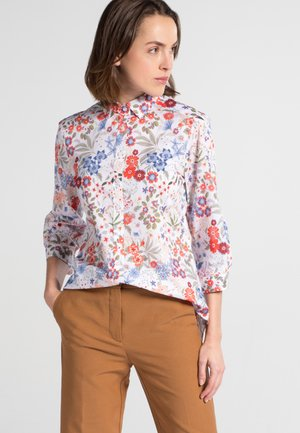 DREIVIERTELARM  - Button-down blouse - red/blue