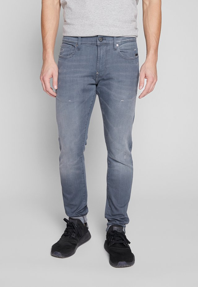 REVEND SKINNY - Jeans Skinny Fit - wess grey superstretch - antic chert grey destroyed