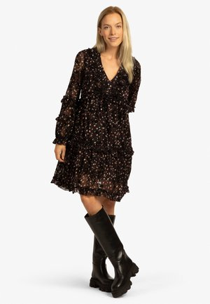 Jersey dress - schwarz-multicolor