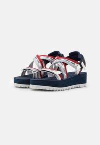 Tommy Jeans - STRAPPY - Platform sandals - twilight navy - 2