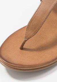 Anna Field - LEATHER - T-bar sandals - cognac - 2