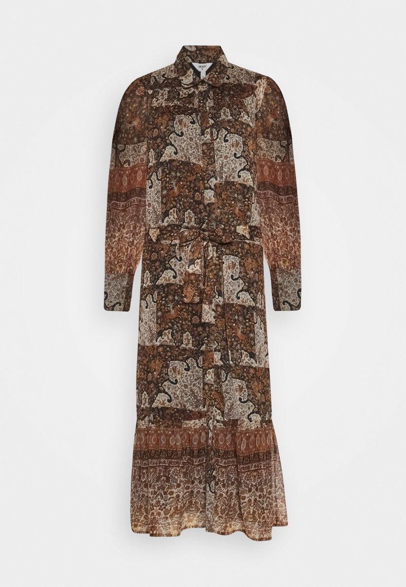 Object - OBJARYA DRESS - Maxi dress - sandshell