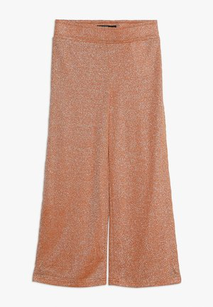 NLFJULIA WIDE CULOTTE PANT - Tygbyxor - sun orange