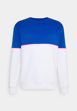 CUT SEW COLOUR BLOCK  - Sweatshirt - blue/white