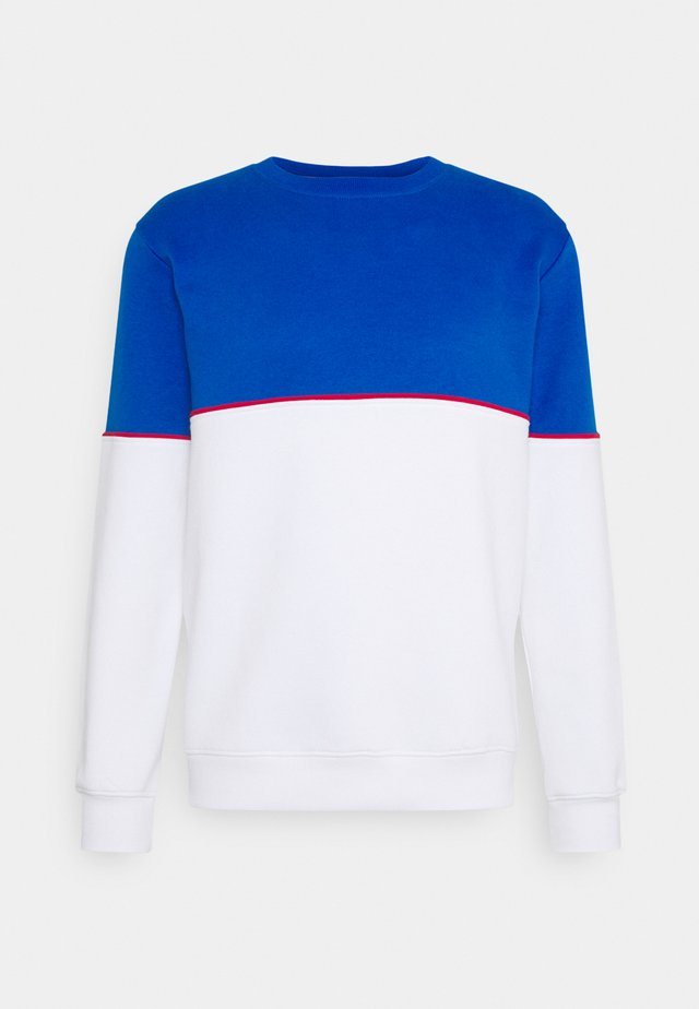 CUT SEW COLOUR BLOCK  - Sweatshirt - blue/white