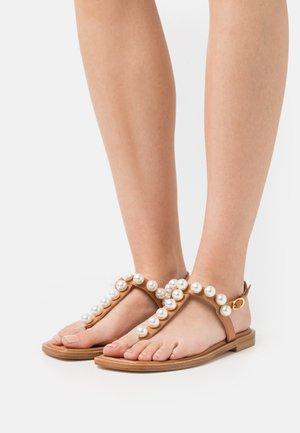 GOLDIE T-STRAP - T-bar sandals - tan