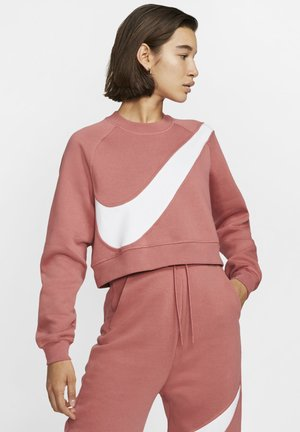 Sweatshirt - light redwood/white