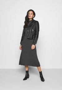 Vero Moda - VMSHARM HIGHNECK DRESS VIP - Jumper dress - dark grey melange - 1