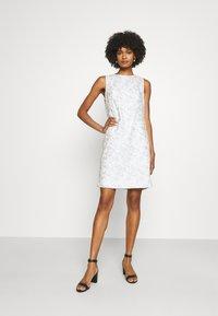 Lauren Ralph Lauren - MELLIE SLEEVELESS EVENING DRESS - Cocktail dress / Party dress - white/silver - 1