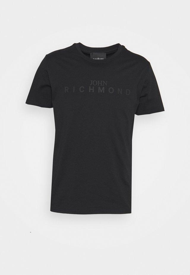 FEDERICK - T-shirt imprimé - black