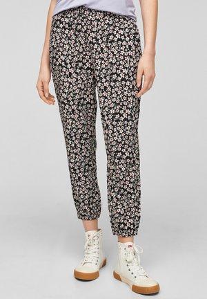 Trousers - black aop