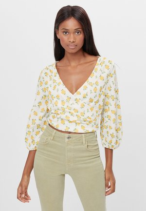 WEITE IN WICKELOPTIK - Blouse - yellow
