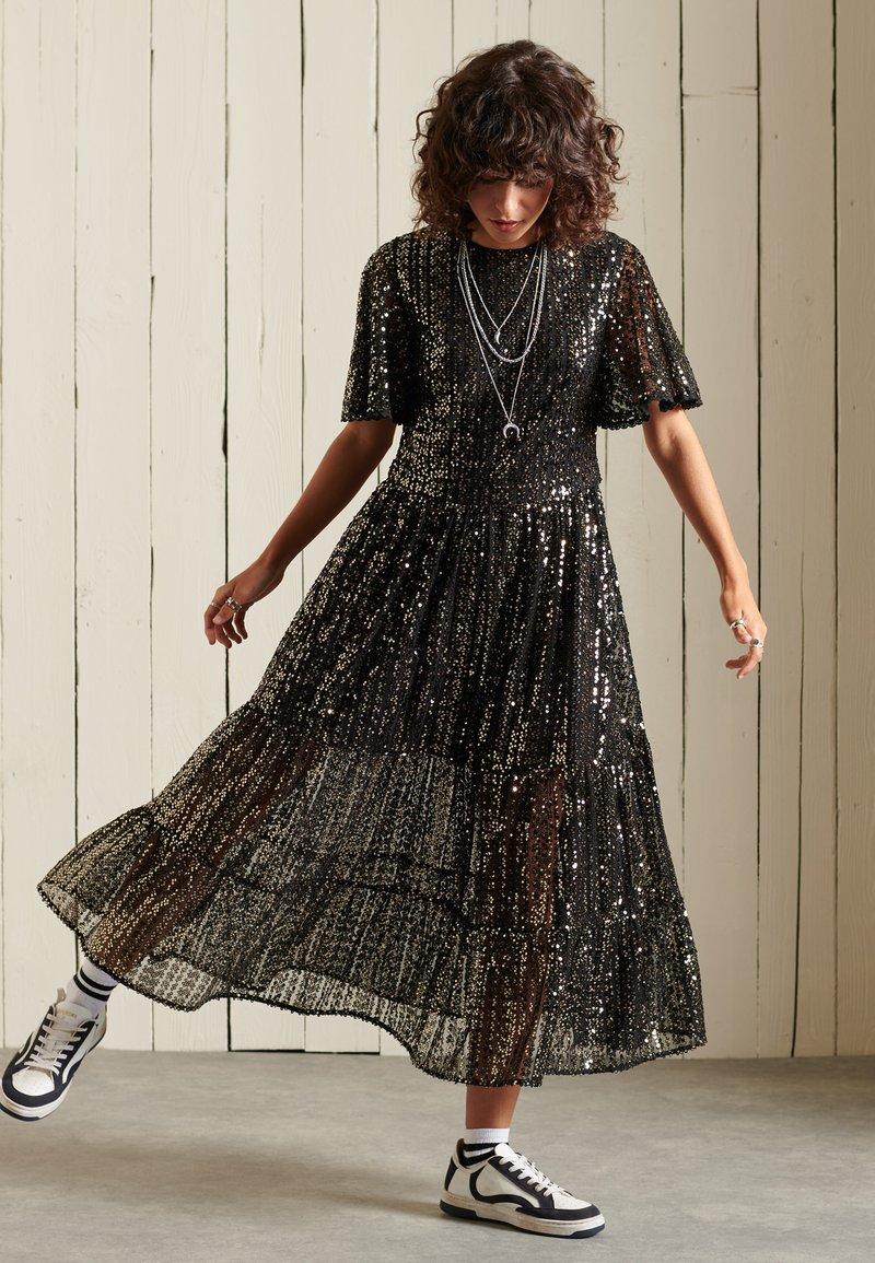Cocktailkleid/festliches Kleid   black sequins