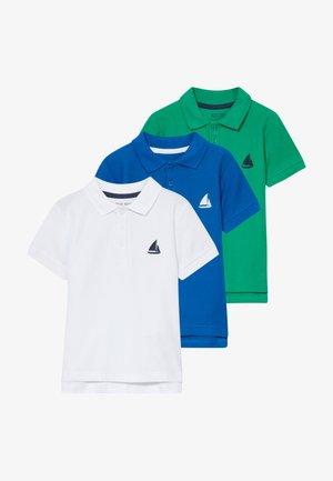 3 PACK - Polo shirt - weiss/ocean/grun