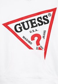 Guess - JUNIOR OVERSIZE HOODED - Mikina s kapucí - true white - 2