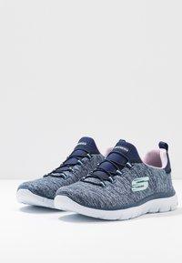 Skechers Sport - SUMMITS - Slipper - navy/purple/light blue - 4