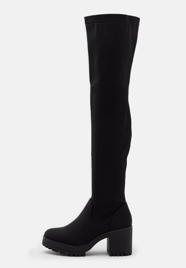CHUNKY BOOTS - Botas mosqueteras - black