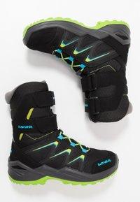 Lowa - MADDOX WARM GTX - Winter boots - black/lime - 0