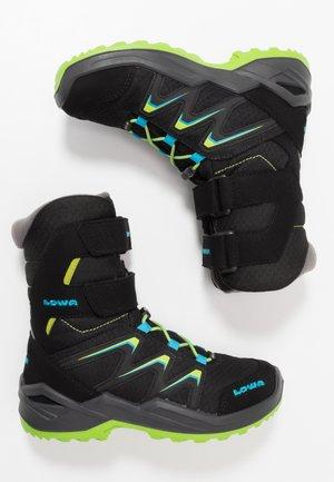 MADDOX WARM GTX - Zimní obuv - black/lime