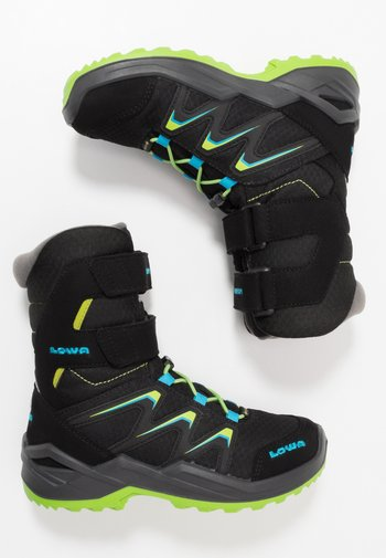 MADDOX WARM GTX - Winter boots - black/lime