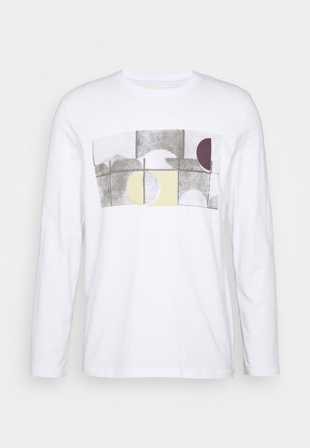 FRACTURE TEE - Long sleeved top - white