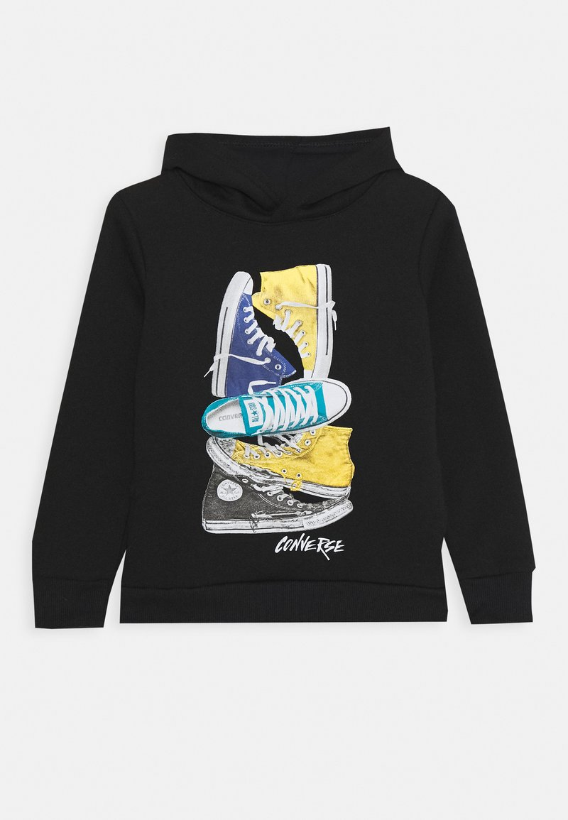 Converse - STACKED REMIX PULL OVER - Hoodie - black