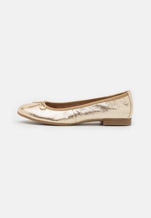 Ballet pumps - gold