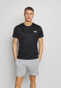 The North Face - REAXION BOX TEE - T-shirt imprimé - black - 0