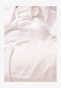 Bershka - SATINIERTE - Trousers - white - 5