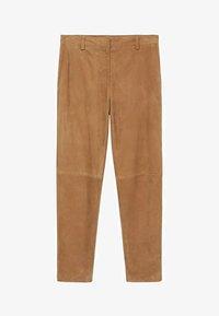 Mango - Leather trousers - mittelbraun - 6