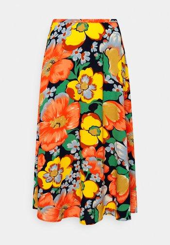 JUNO MIDI SKIRT SUNBEAM - A-line skirt - orange